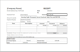 fee receipt format cash receipt template for ms excel excel templates