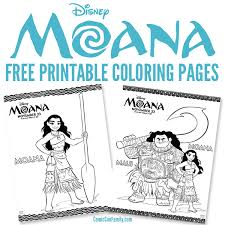 Winsome Moana Coloring Pages Free Printables Disney Comic Con Family