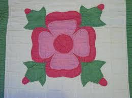 Rose of Sharon Applique Quilt SOLD | Cindy Rennels Antique Quilts & quilt block view Adamdwight.com