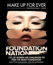make up for ever foundation has something for everyone the foundation nation caign will find the foundation and shade for everyone