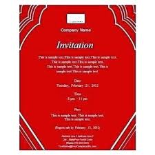 Corporate Invitation Card Format Event Invitation Card Template Dancarlyle Me