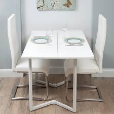 Am Besten Weiß Klapp Esstisch Und Stühle Mit Edelstahl Bein Verfügt