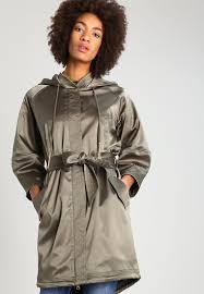 guess serap short coat vert women clothing coats oliv