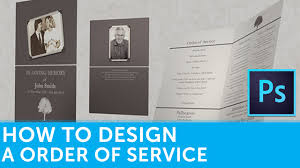 How To Design A Funeral Order Of Service Booklet In Adobe Photoshop ...