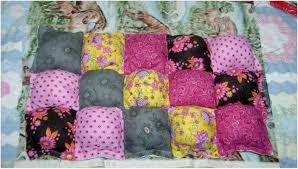 How to Make Puff Quilts, Also Called Biscuit Quilts & How to Make Backing for a Puff Quilt Adamdwight.com