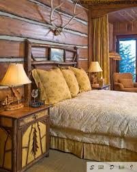 Lodge Bedroom Decor Bold Country Style Bedroom Design