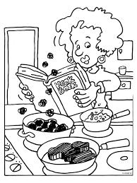 Kleurplaat Kookboek Voor Mama Kleurplatennl