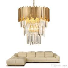 modern chandelier lighting luxury living room kitchen island crystal lights long gold polished steel hanging led re chandelier lift pineapple chandelier