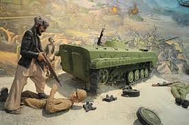 the jihad museum remembers the soviet invasion the detail of a tableau depicting fighting during the soviet invasion of at the jihad museum on 8 2009