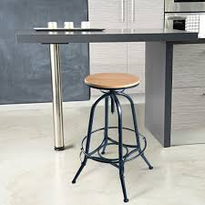 Image of: Vintage Industrial Adjustable Stool