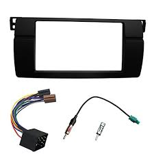 harness dvd trainers4me dkmus dash installation trim kit for bmw 3 series e46 1998 2006 facia double din radio stereo dvd wiring harness antenna adapter