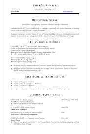 Sample Nursing Resume Resume Lpn New Graduate Nurse Sample To Rn Example Templates 27