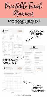 Printable Travel Checklist Ultimate Packing For Lists Planners