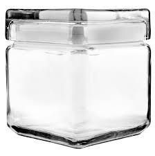 anchor hocking glass square stacking jar 85587