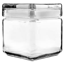 anchor hocking glass square stacking jar 85587