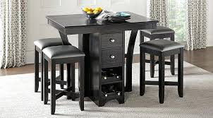 Image Round Black Bar Counter Height Table Set With Stool Picture Of Dining From Furniture Kitchen Design Decoration House Free Source Black Bar Counter Height Table Set With Stool Decoration House