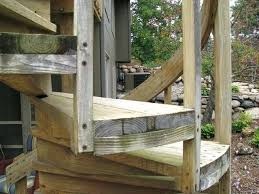 wood spiral staircase diy outdoor spiral stairs