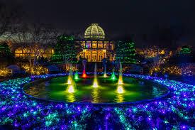 bringing art to light shines at lewis ginter botanical garden