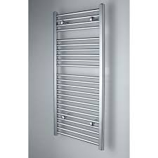 Image Wall Mounted Flat Chrome Heated Towel Rail 1150mm 500mm Placemakers Flat Chrome Heated Towel Rail 1150mm 500mm Selco