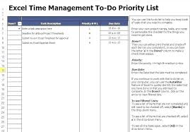 Priority List Templates Team Task Management Template