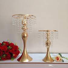 33cm 48cm height rose gold elegant metal acrylic tabletop chandelier flower stand vase for wedding decorations centerpiece wedding crystal flower stand