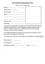 Photographer Release Form Template Free Generic Photo