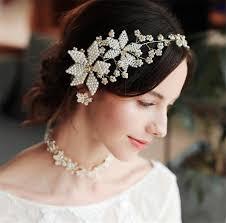 2019 Vintage Wedding Bridal Flower <b>Headband</b> Pearl Hair ...