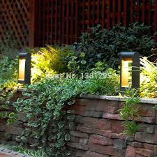 outdoor lighting bollards aluminum alloy outdoor led garden bollard path lights walkway exterior lawn lamps