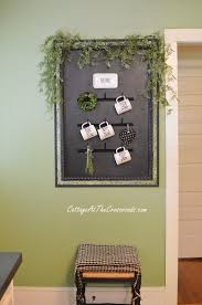 Cute funny diy coffee mug designs ideas try Crafts 18 Framed Arrangement With Hooks And Greenery My Modern Met 26 Best Diy Coffee Mug Holder Ideas And Projects For 2019