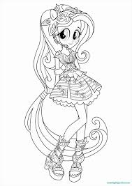 Endearing Rainbow Rocks Coloring Pages Coloring To Fancy Equestria