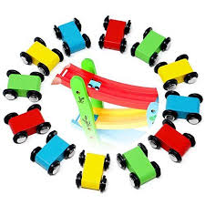 mini wooden race car replacement for ramp racer toy toddlers kids 12 pack set