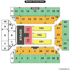 Broome County Arena Seating Broome County Veterans Arena