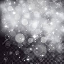透明な暗い背景に降る雪粒子星のような光の効果お祝いクリスマス イラスト