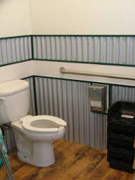 interesting corrugated metal bathroom walls pictures design inspiration