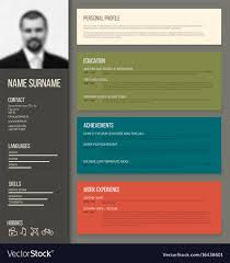 Minimalistic Cv Resume Template