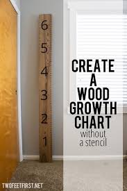 How To Mark A Wooden Growth Chart Kid Growth Chart
