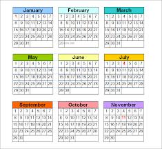 Perpetual Calendar - Calendar Template | Free & Premium Templates