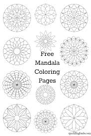 Free Mandala Coloring Pages Sparklingbuds