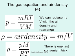 density equation ideal gas. 15. the gas equation and air density ideal