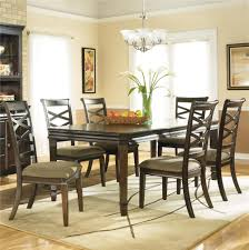 Ashley Furniture Kitchen Island Hayley Contemporary 7 Piece Dining Set With X Back Chairs By