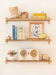 Self Paint Floating Shelves Delectable 32 Times Gold Spray Paint Made Ikea Products Even Better My Bali