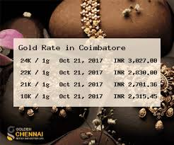 Gold Rate In Coimbatore Gold Price In Coimbatore Live