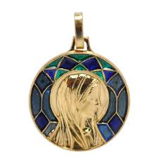saint mary magdalene maria madeleine temple gold stained glass charm blue