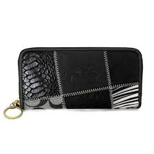 Coach Holiday Matching Large Black Multi Wallets EDD