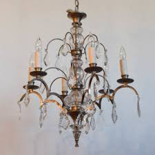 pewter crystal chandelier