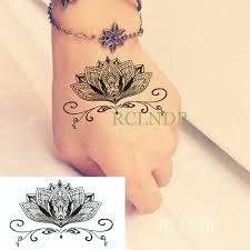 водонепроницаемая временная татуировка наклейка мандала цветок лотоса флэш тату