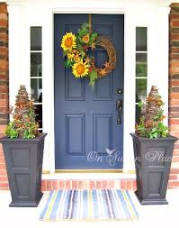 fall front door decor ideas a diy twig wreath with some faux sunflowers would add a splash of color to your
