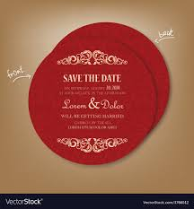 Red Save The Date Cards Round Red Save The Date Card