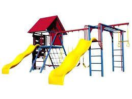 double swing set lifetime deluxe double slide primary colors swing set double swing set with baby