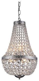 6 light chrome crystal chandelier pendant